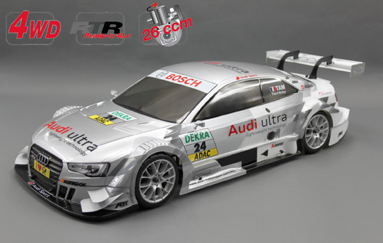 voitures 1/5 thermiques: chassis 4wd 530 rtr + car. audi r8